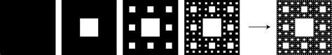alfombra de sierpinski epsilones fractales