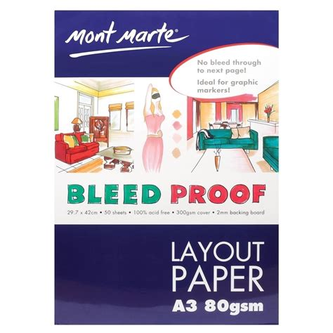 Kiky Sketch Book A3 50 Sheet 1 1pce mont marte bleedproof layout pad 80gsm 50 sheets