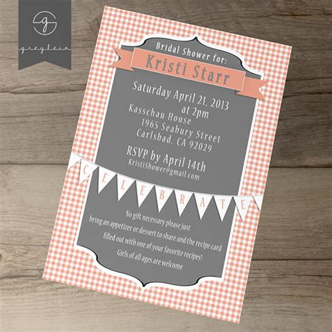 bridal shower recipe invitations bridal shower printable invites and recipe cards on behance