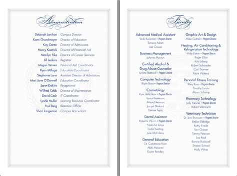 graduation program template michael t cottrell vatterott graduation program and