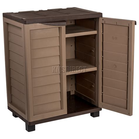 Outdoor Utility Cabinet by Starplast Outdoor Plastic Garden Utility Cabinet With 2
