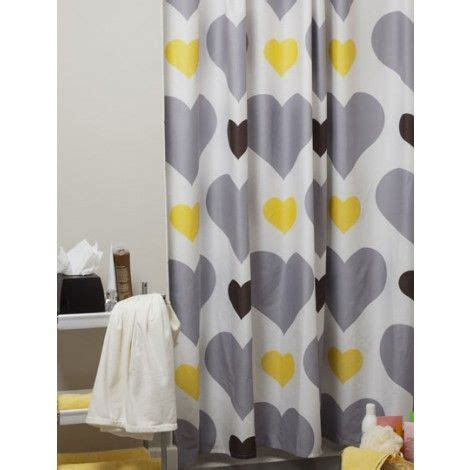 yellow grey shower curtain love me or leave me shower curtain