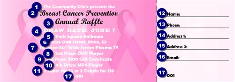 Pink Ribbon Raffle Ticket 001 Ticketprinting Com Breast Cancer Raffle Ticket Template
