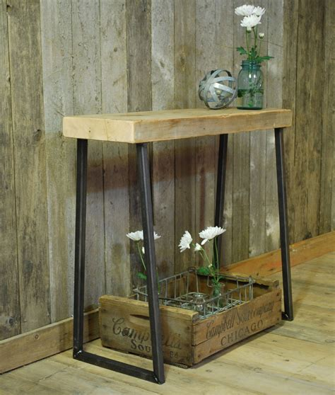 accent console table nautical reclaimed wood console