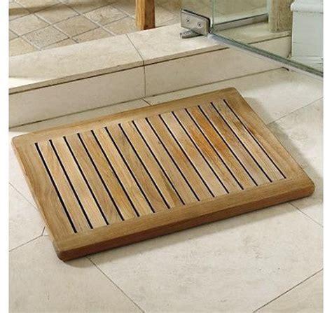 wood bathroom mat the luxury of a teak shower mat teak patio furniture world