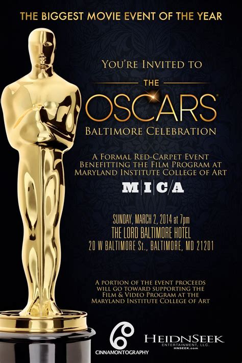academy awards invitation template oscar invitation invitations galabal 2017