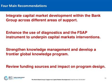 world bank capital the world bank s support to capital market development