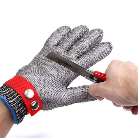 Safety Cut Proof Stab Resistant Stainless Metal Mesh Butche safety cut proof stab resistant stainless steel metal mesh gloves grade 5 protective gloves in