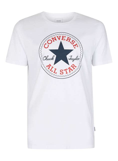 Tshirt New Converse converse white patch logo t shirt new in topman