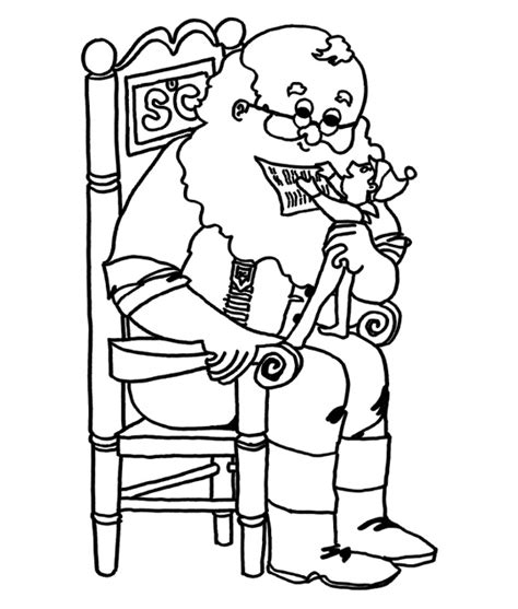 coloring pictures of santa and elves elf on a shelf with santa coloring sheet christmas