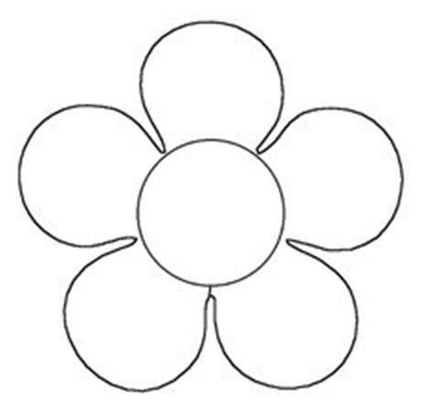 flores de 5 petalos para imprimir dibujo flor 5 petalos buscar con google plantillas