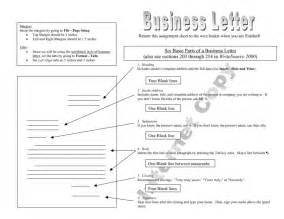 Business Letter Format Quiz Parts Of A Business Letter Quiz The Letter Sle