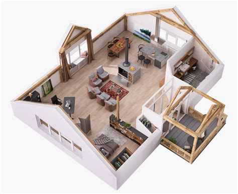 house layout planner 4 stylish homes with slanted ceilings