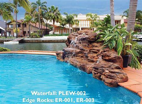 cascade swimming pool rock waterfall kits pool waterfalls