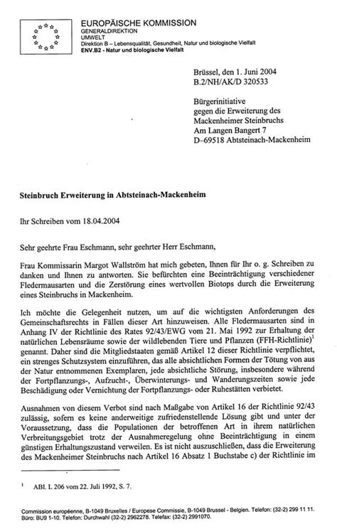 Beschwerdebrief Gegen Nachbarn Schreiben Schriftverkehr Eu Kommission