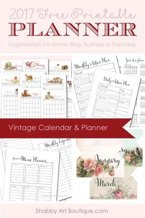 printable planner bundle 2017 free vintage planner bundle shabby art boutique