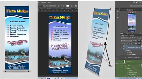 tutorial membuat x banner dengan photoshop cara menyeting ukuran x banner dengan photoshop youtube