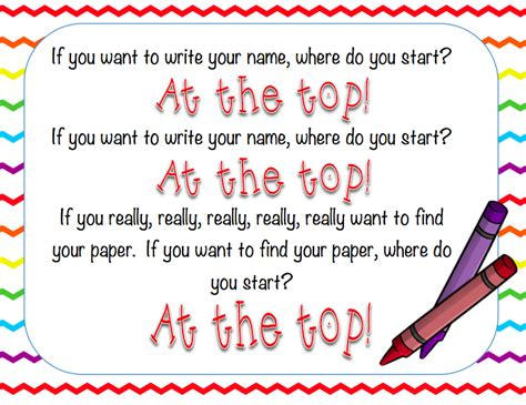 ways to write your name on paper remembering to write your name on your paper