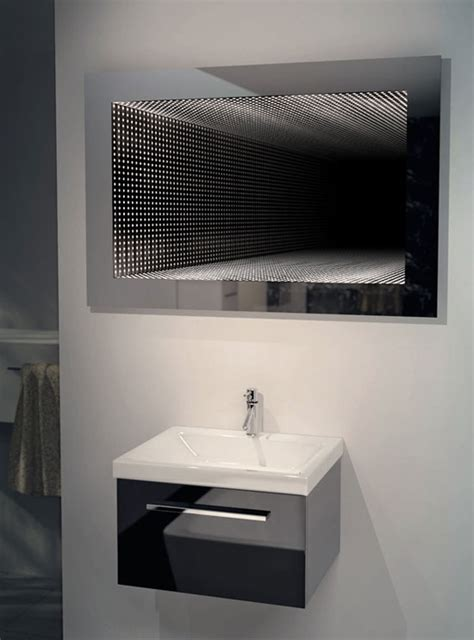 bathroom infinity mirror perfect reflection led bathroom infinity mirror k212l ebay