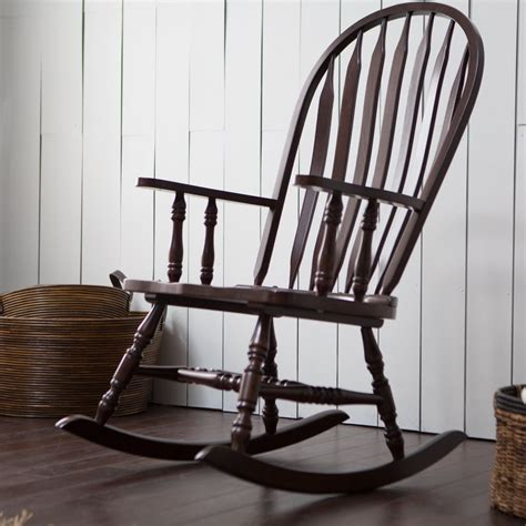 rocking chair rocking wooden curved armrests indoor chair swing rocker