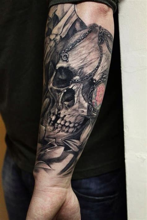 skull forearm tattoos 10 best arm pieces by tattoos images on