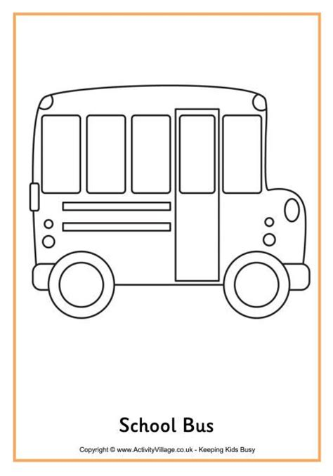 bus coloring pages preschool school bus back to school dibujos para colorear de