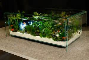 table basse aquarium design tables aquariums