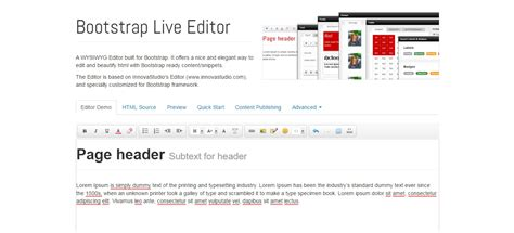 bootstrap design editor 20 bootstrap editors for building all browser compatible