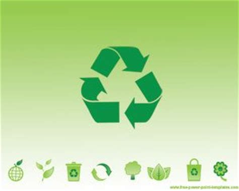green recycling powerpoint template ppt template