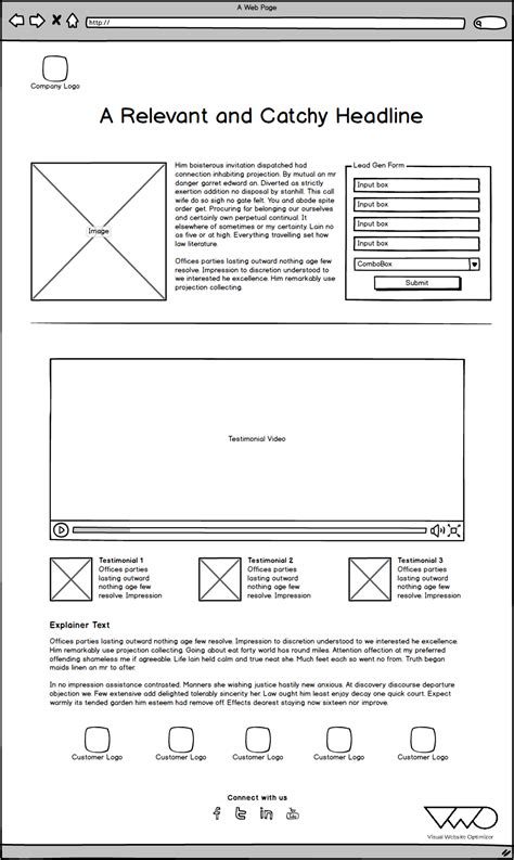 lead generation page template testing lead generation templates for improving the