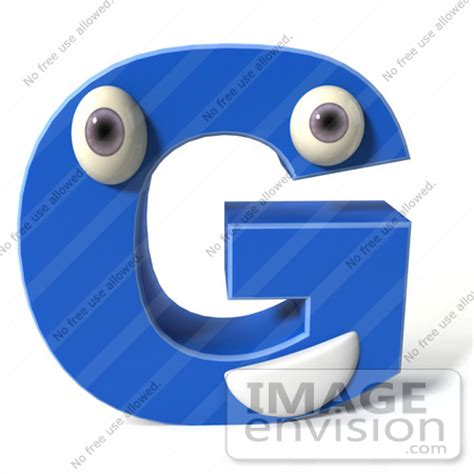 Character Letter G Royalty Free Rf Illustration Of A 3d Blue Alphabet Letter G Character With And A