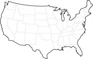 a blank map of the united states citizenship assessments