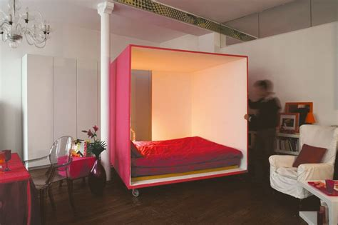 bed for studio apartment 187 mobile bed cube for a studio apartment 2 at in seven colors colorful designs