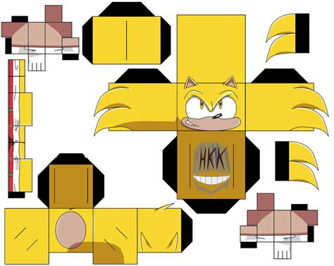 Sonic The Hedgehog Papercraft - set 3 of sonic the hedgehog characters paper free