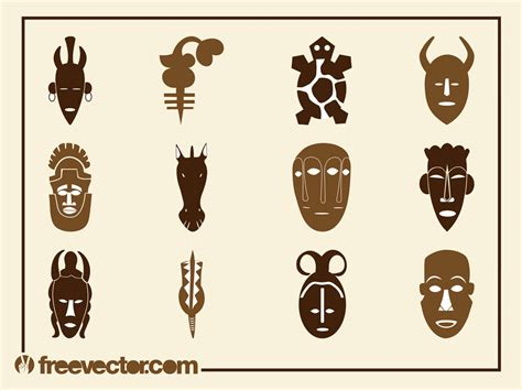 african vector pattern eps african designs set vector art graphics freevector com