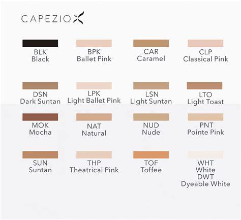 color tights capezio tights color guide