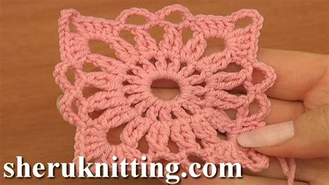 motif es pattern crochet small square motif tutorial 4 part 1 of 2 joining