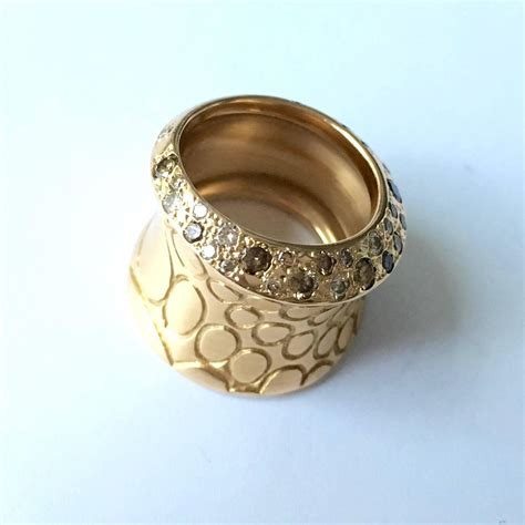 pomellato cocco gold wide band ring at 1stdibs