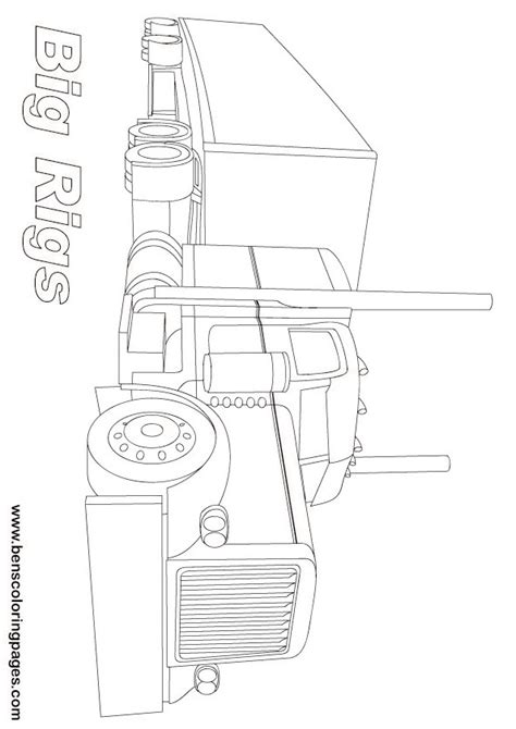 Big Rig Coloring Pages printable big rigs lorry coloring page