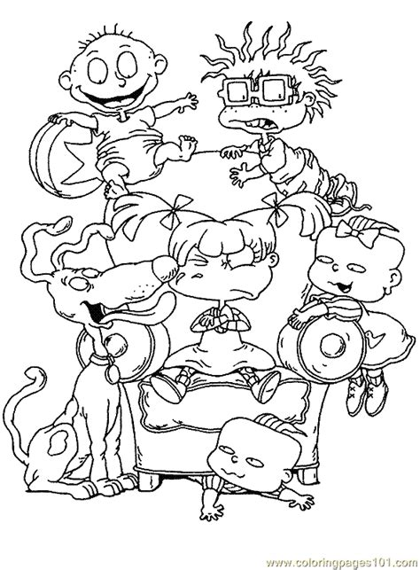 90s Coloring Page by 13 Rugrats Coloring Page To Print Print Color Craft