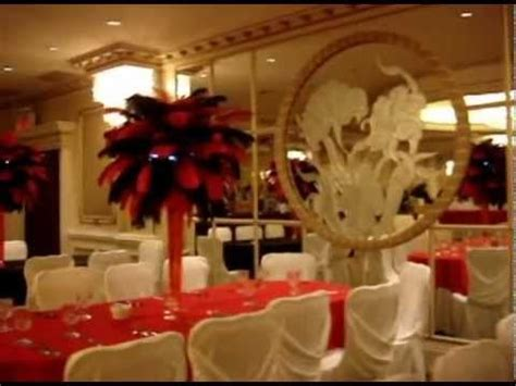 feather centerpieces for sweet 16 rent themed black ostrich feather