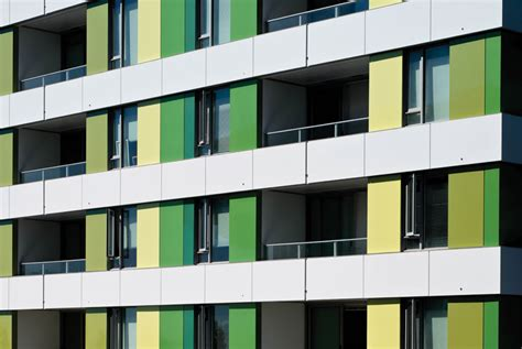 green hued alucobond spectra reflects sustainable design