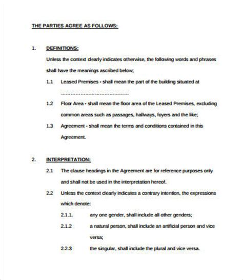 Simple Lease Agreement 9 Free Pdf Word Documents Download Free Premium Templates Domain Lease Agreement Template