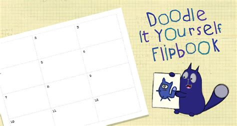 doodle yourself doodle it yourself flipbook activities peg cat pbs