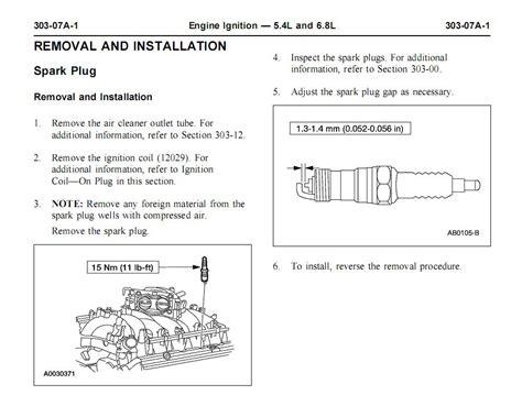 2004 F250 5 4l Spark Plug Change