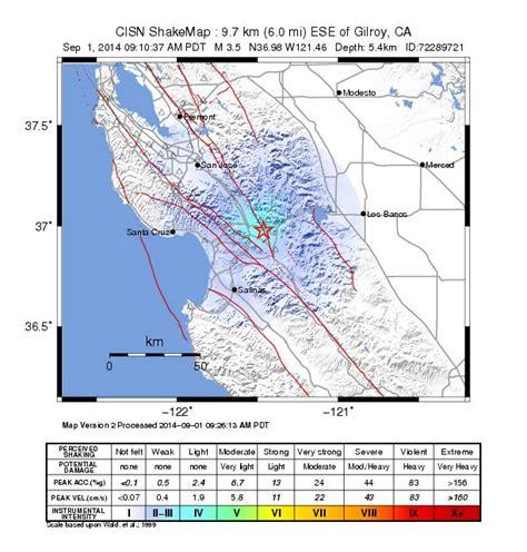 earthquake gilroy 3 5 earthquake hits gilroy news fix kqed news