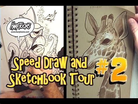sketchbook speed drawing speed drawing and sketchbook tour 2 harptoons
