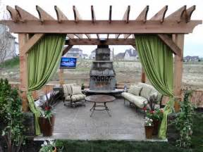 patio pergolas this patio pergola has curtains for