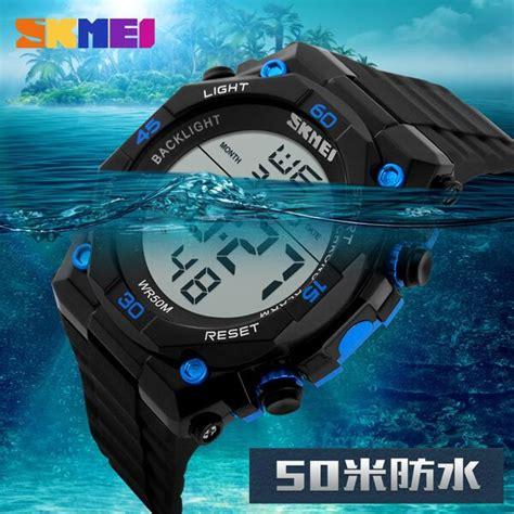 Skmei S Shock Jam Tangan Digital Sport Dg1130 Black Blue H841 skmei jam tangan digital pria dg1130 black blue