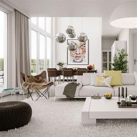 modern bright interior adorable home